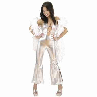 Afgeprijsde catsuit voor dames zilver