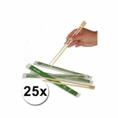 Afgeprijsde chinese eetstokjes 25x 2 stuks