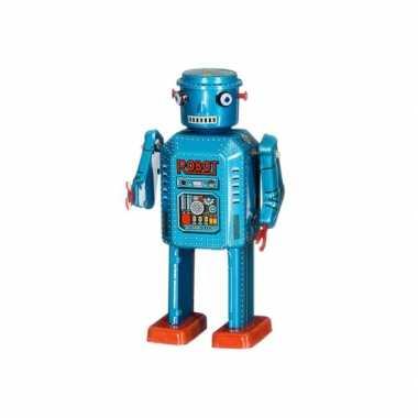 Afgeprijsde collectors item robot blauw 13 cm