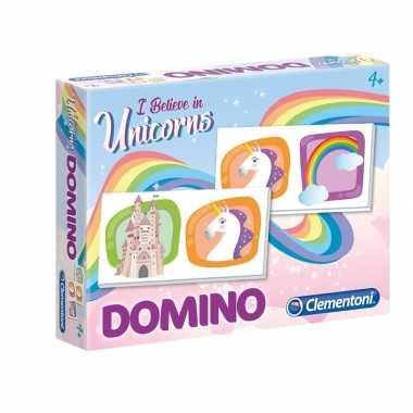 Afgeprijsde domino spel eenhoorn voor kinderen