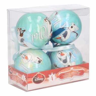 Afgeprijsde frozen olaf kerstballen 7,5 cm