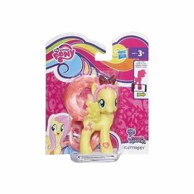 Afgeprijsde gele speelgoed my little pony 8 cm