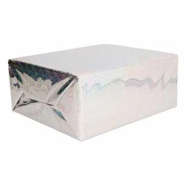 Afgeprijsde glitter hobbyfolie zilver 150 cm