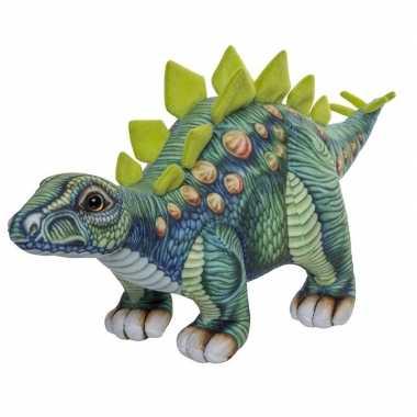 Afgeprijsde groene stegosaurus knuffel 47 cm