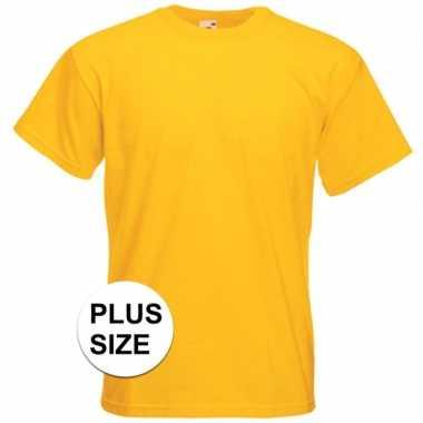 Afgeprijsde grote maten gele t-shirts met korte mouwen voor heren