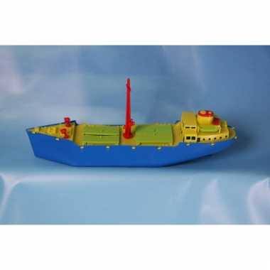 Afgeprijsde grote speelgoed vrachtboot 51 cm