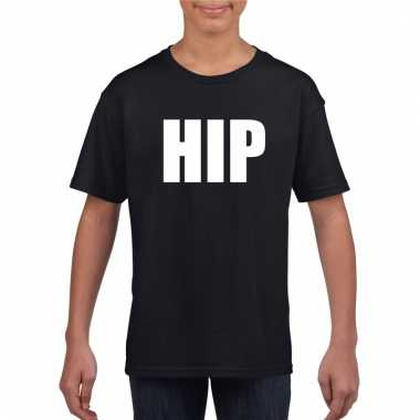 Afgeprijsde hip tekst t-shirt zwart kinderen