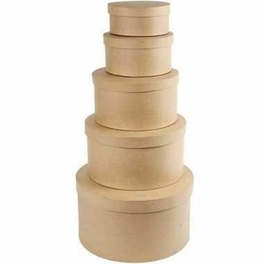 Afgeprijsde hobby vorm ronde doos 14,5 cm