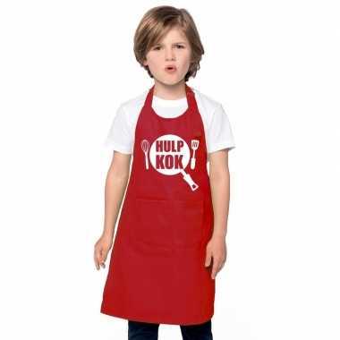 Afgeprijsde hulpkok kookschort kinderen rood