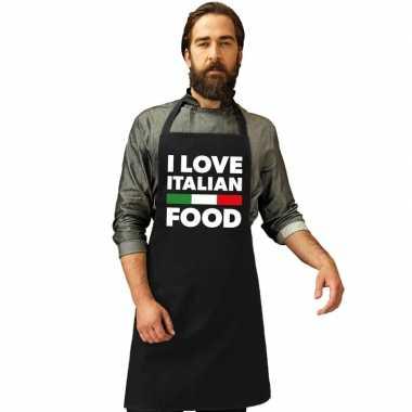 Afgeprijsde i love italian food keukenschort