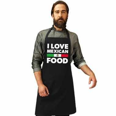 Afgeprijsde i love mexican food keukenschort