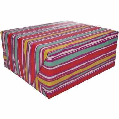 Afgeprijsde kadopapier gekleurd type 4 70 x 200 cm