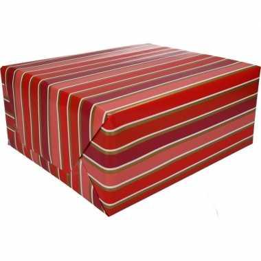Afgeprijsde kadopapier gestreept type 7 70 x 200 cm