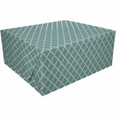 Afgeprijsde kadopapier groen type 2 70 x 200 cm