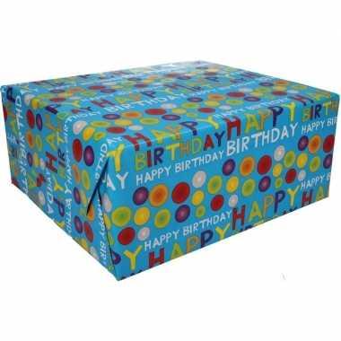 Afgeprijsde kadopapier happy birthday 70 x 200 cm