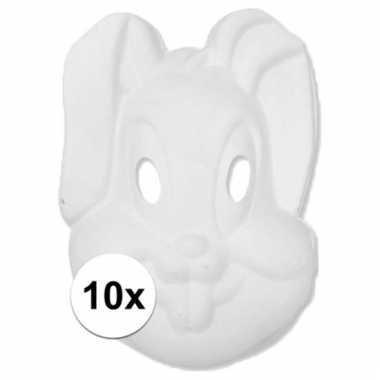 Afgeprijsde kartonnen maskers konijntje haasje 10107900