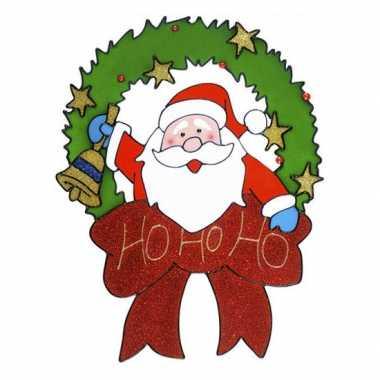 Afgeprijsde kerstman raam sticker 30 cm