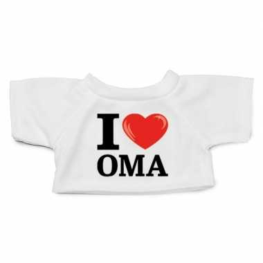 Afgeprijsde knuffel kleding i love oma t-shirt wit m voor clothies kn