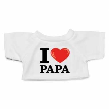 Afgeprijsde knuffel kleding i love papa t-shirt wit m voor clothies k