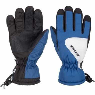 Afgeprijsde kobalt/zwart/wit starling riva ski handschoenen taslan vo