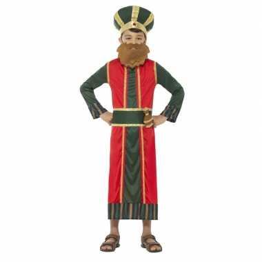 Afgeprijsde koning caspar kerst verkleedkleding voor jongens