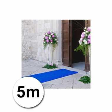 Afgeprijsde loper in de kleur blauwe 1 bij 5 meter