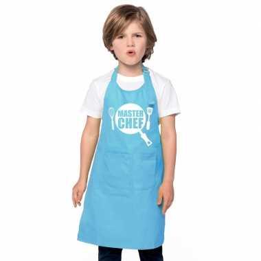 Afgeprijsde master chef kookschort kinderen blauw