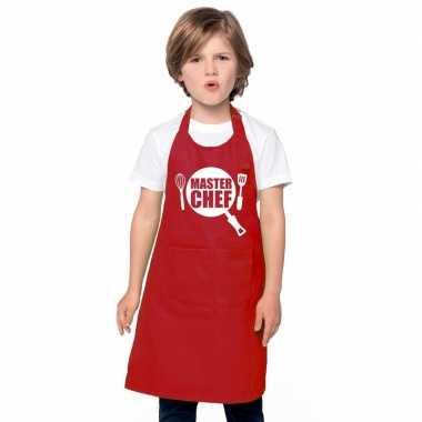 Afgeprijsde master chef kookschort kinderen rood