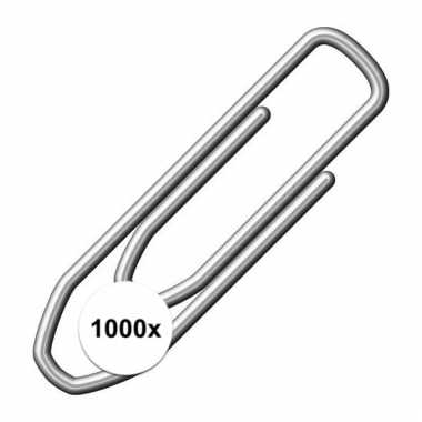 Afgeprijsde metalen paperclips 21 mm 10101946