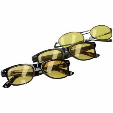 Afgeprijsde nachtzichtbril mat zwart voor volwassenen