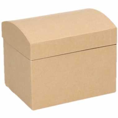 Afgeprijsde onbewerkte kartonnen sieradendoos 11,5 cm