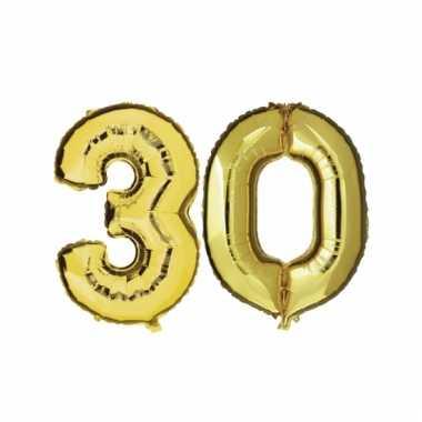 Afgeprijsde opblaas 30 jaar ballonnen goud