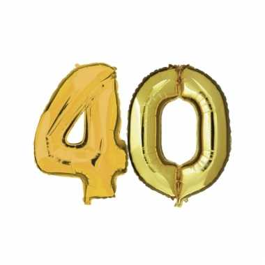 Afgeprijsde opblaas 40 jaar ballonnen goud