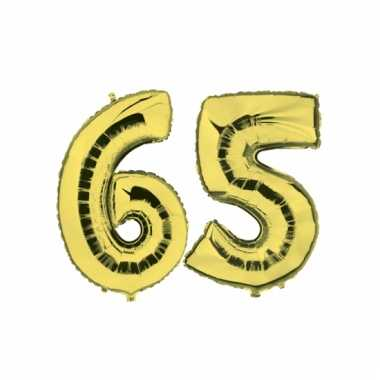 Afgeprijsde opblaas 65 jaar ballonnen goud