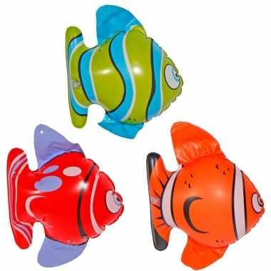 Afgeprijsde opblaasbare decoratie vissen 6x stuks