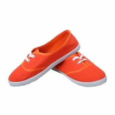 Afgeprijsde oranje fan ek/wk schoenen/sneakers 36-41 voor meisjes/dam