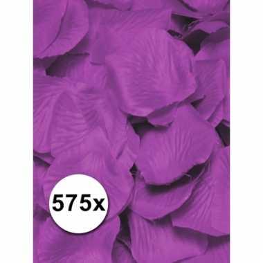 Afgeprijsde paarse lila rozenblaadjes van stof 575 st