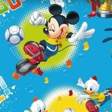 Afgeprijsde pakpapier mickey mouse blauw