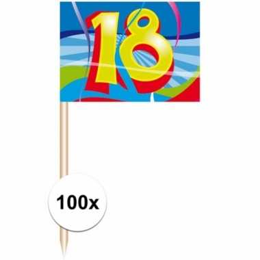 Afgeprijsde party prikkertjes 18 jaar 100 stuks