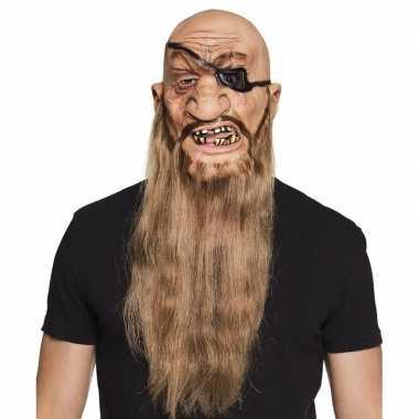 Afgeprijsde piraten masker van latex