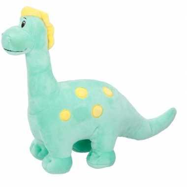Afgeprijsde pluche knuffeldier groene dinosaurus 28 cm