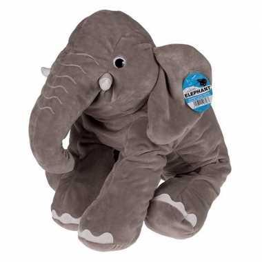 Afgeprijsde pluche zittende olifant 53 cm