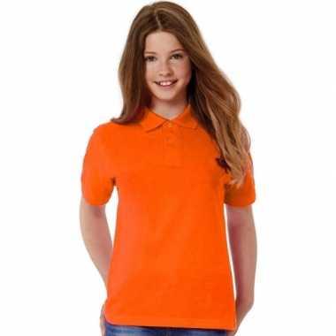 Afgeprijsde polo shirts oranje voor meisjes