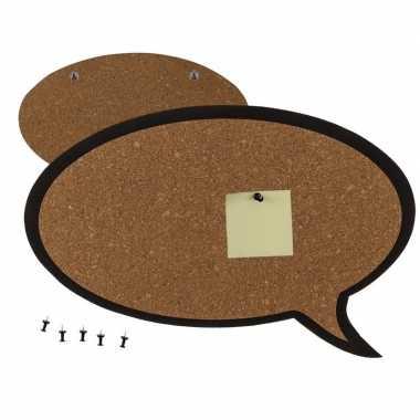Afgeprijsde prikbord tekst ballon 44 cm