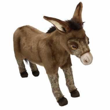 Afgeprijsde realistische pluche ezel knuffel 41 cm