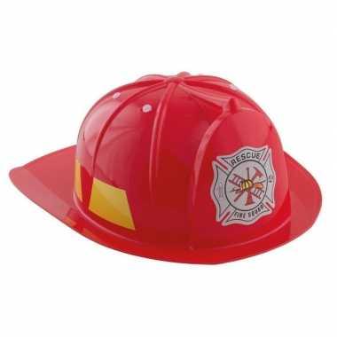 Afgeprijsde rode brandweerhelm verkleed accessoire kind