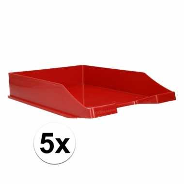 Afgeprijsde rode documentenbak a4 5 x