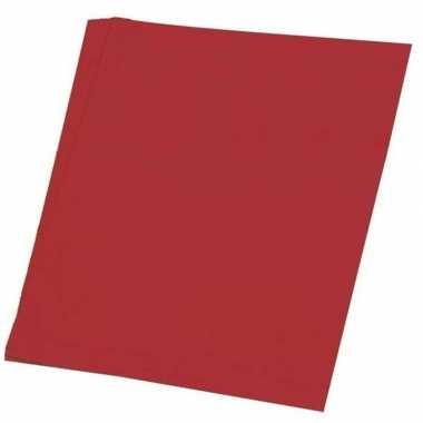 Afgeprijsde rood knutsel papier 100 vellen a4