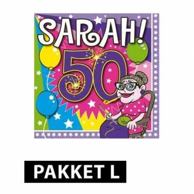 Afgeprijsde sarah verjaardag feestpakket large