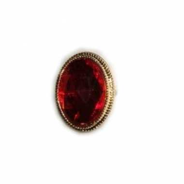 Afgeprijsde sinterklaas ringen met rode steen